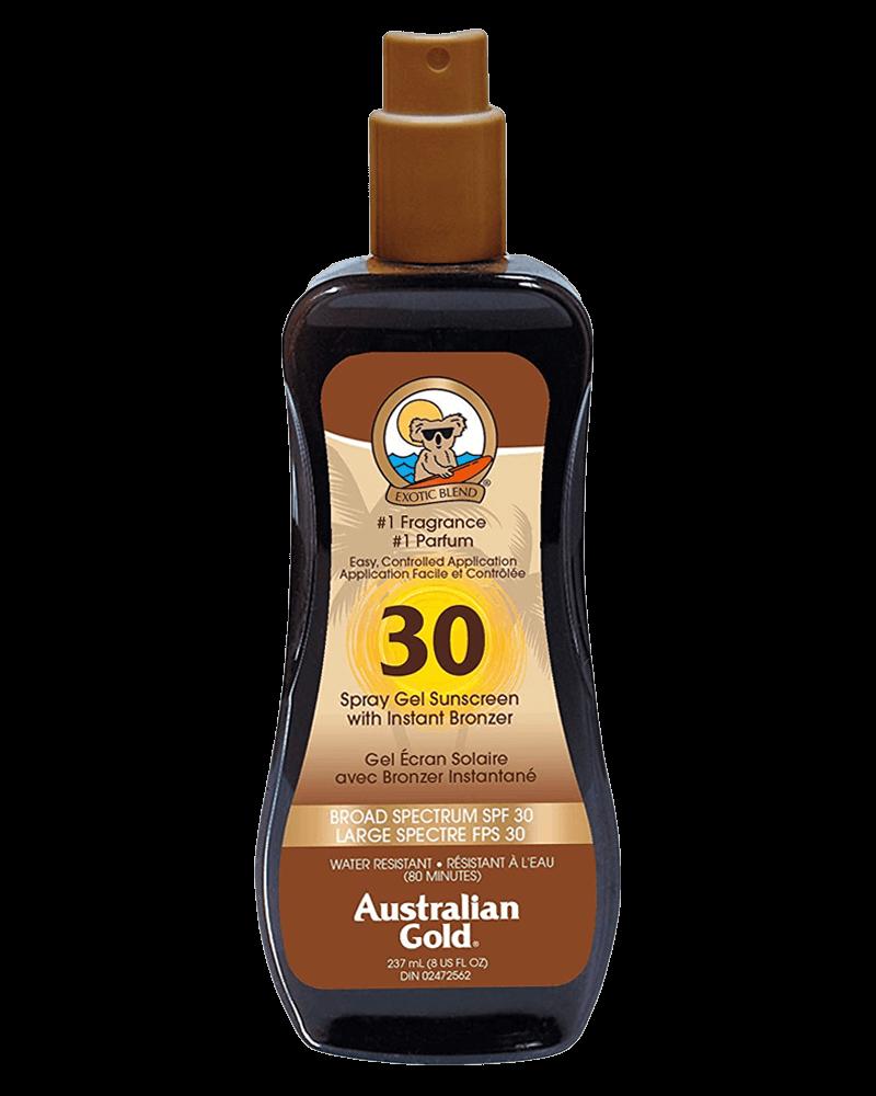 Australian Gold Spray Gel Sunscreen SPF 30 Bronzer 237 ml