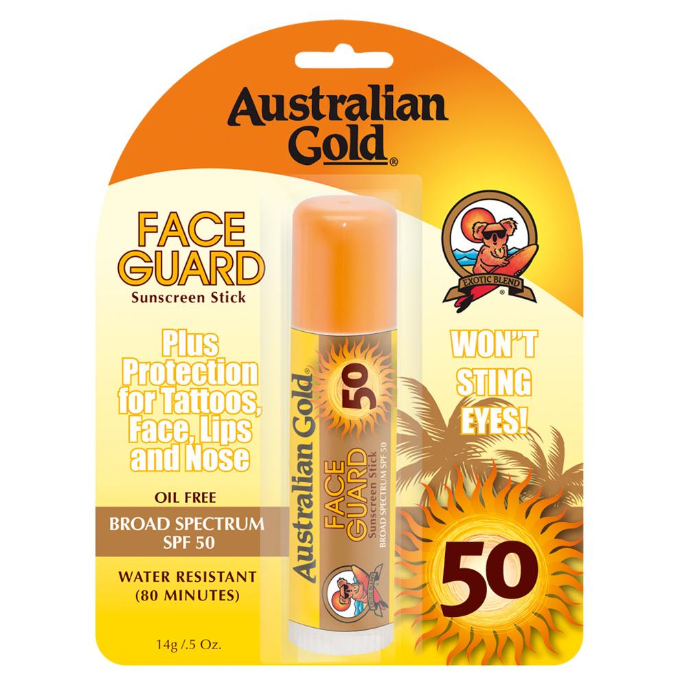 Australian Gold Face Guard Sunscreen Stick SPF 50 (U) 14 g