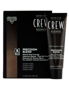 American Crew Precision Blend - Medium Natural 4-5 3x40ml