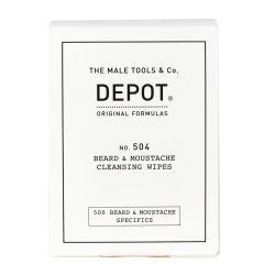 Depot No. 504 Beard & Moustache Cleansing Wipes 12 stk