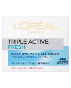 Loreal Triple Active Fresh Ultra-Hydrating Gel-Cream dry/sensitive skin 50 ml