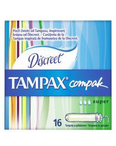 Tampax Compak Discreet - Super 16 stk
