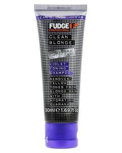Fudge Clean Blonde Violet-Toning Shampoo (U) 50 ml