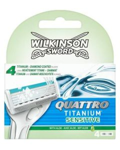Wilkinson Sword - Quattro Titanium Sensitive 4pak