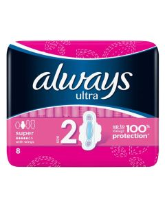 Always Ultra Normal Super Plus - Med Vinger