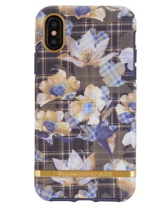 Richmond And Finch Floral Checked iPhone X/Xs Cover (U)