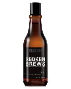 Redken Brews 3 In 1 Shampoo, Conditioner And Body Wash 300 ml