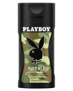 Playboy Play It Wild 2in1 Shower Gel & Shampoo 250 ml