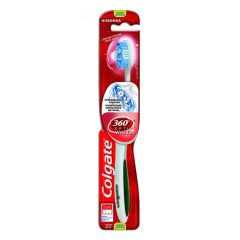 Colgate 360 Optic White Tandbørste - Medium - Grøn