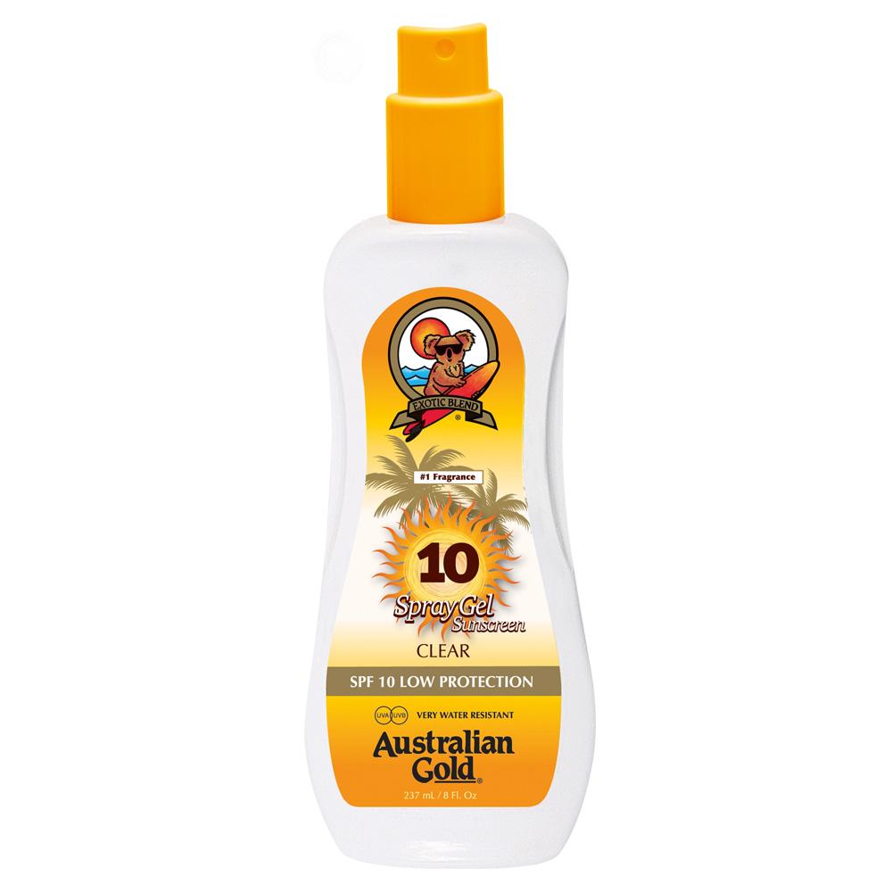Australian Gold Spray Gel Sunscreen SPF 10 237 ml