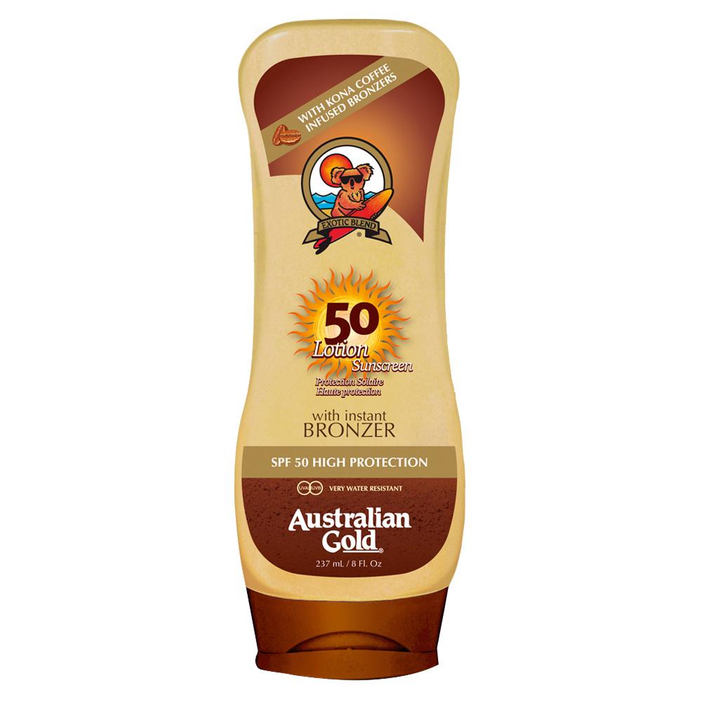 Australian Gold Lotion Sunscreen SPF 50 Bronzer 237 ml